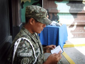 Soldier during the Peru ISB, 2010