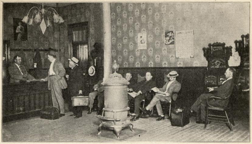 An archival image of the lobby of the Boscobel Central House Hotel, where John Nicholson and Sam Hill first met.