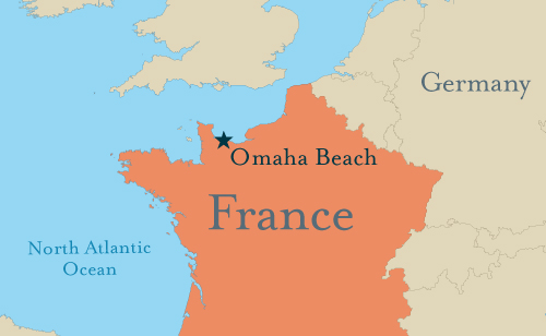 Omaha Beach France Map