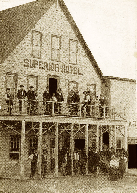 The Superior Hotel in Montana, where the first hotel Bibles were placed by a Gideon.