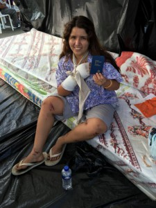 Vanessa, one of the earthquake survivors who has decided to follow Jesus after receiving a Scripture from The Gideons