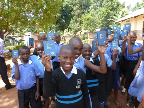 Some of the students who received Scriptures from The Gideons in the 2016 Uganda International Scripture Blitz